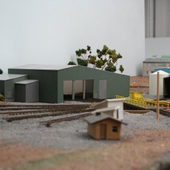 Overview of the loco depot from the down end