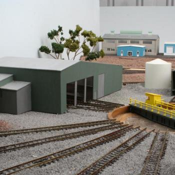 Geelong loco depot - with more scenery
