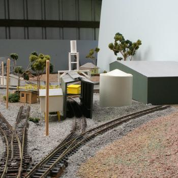 Looking back over the fuel point towards the turntable