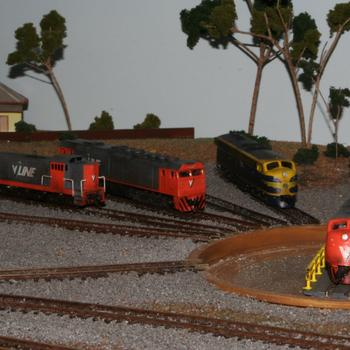 Locos around the turntable