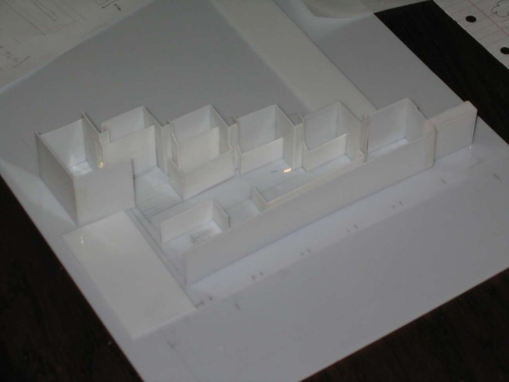 Model of Parliament Station's Lonsdale Street entry