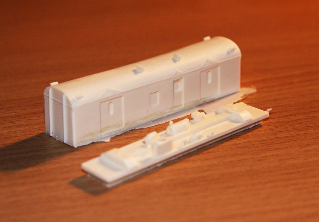 Completed casting of a CP / VVCP guards van
