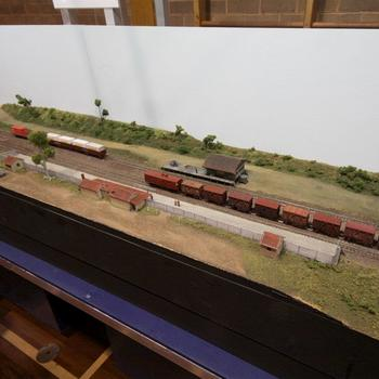 Fish Creek: trains at the station yard