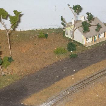 Farmhouse and the train line
