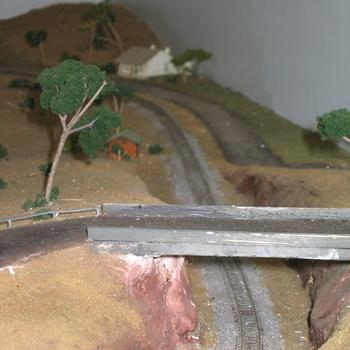 Cutting and road overbridge