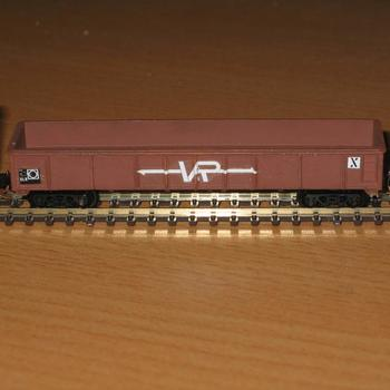 Bashed up ELX from Model Power gondola wagon