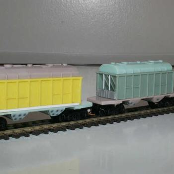 Aust-N-Rail CJ/VHCA cement hoppers awaiting painting