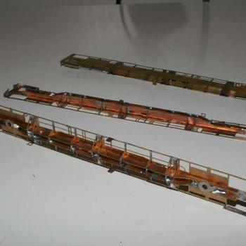 Three etched brass VQDW container wagons by Spirit Design