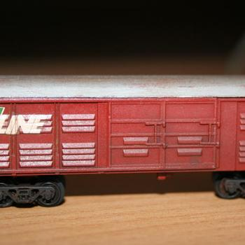Weathered VLCX wagon, from a Fybren Models kit