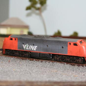 Peter Boorman cast B class in V/Line livery