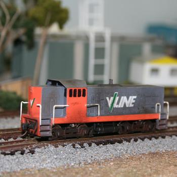 Aust-N-Rail 2nd series T class, in V/Line livery from the first version of the kit