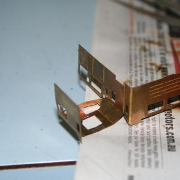Folding up the cab of a N Scale Australia N class