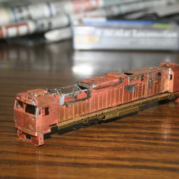 N class underway, from a N Scale Australia kit