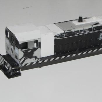 Modified cab side windows and roof, plus long end hood and grills