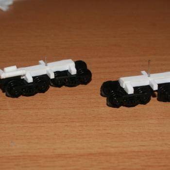 Bogies for the QS2 oversize load wagon