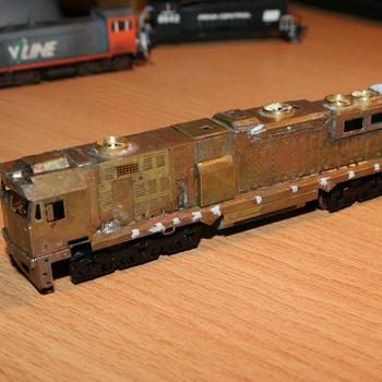 V/Line N class underway from a N Scale Australia brass etch