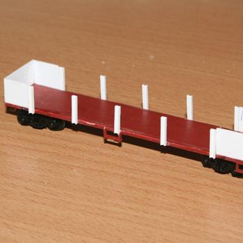 Partially completed master for an ESX open wagon, based on a ELX underframe