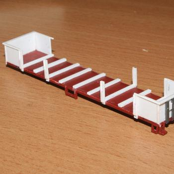 A bit more work on the ESX open wagon, the stanchions keep falling off