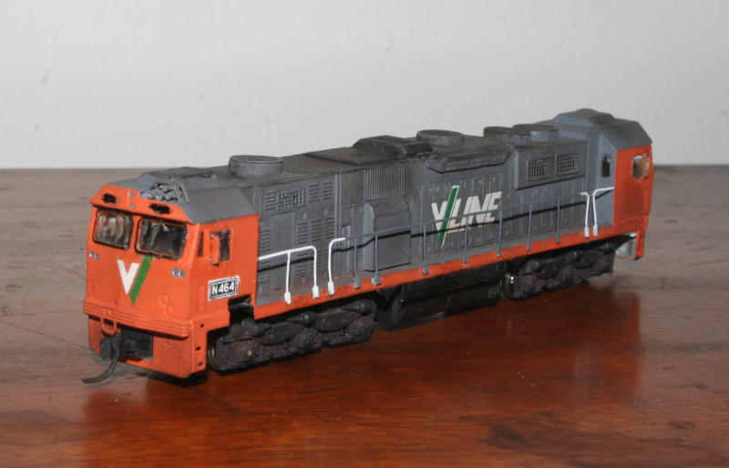 Completed V/Line N class from a N Scale Australia brass etch kit