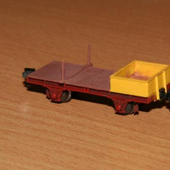 KR rail carrier, end wagon