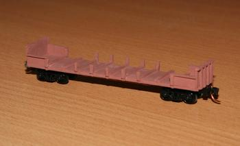 VKEX slab steel wagon, converted from an ESX