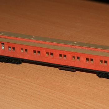 AE carriage modified into the HW workmans sleeper on the Weedex train, from a Spirit Design timber kit