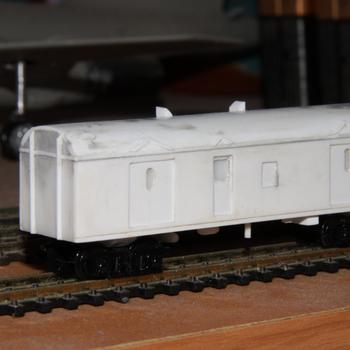 Completed styrene master of a CP / VVCP guards van